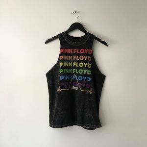 Pink Floyd Graphic Tour Band Tank Top
